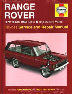 haynes manual range rover classic 1970 to 1994